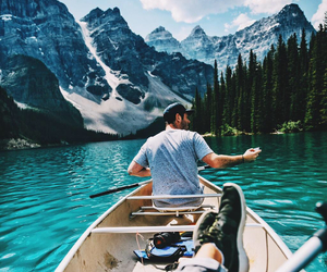 mountains, canada, and water image