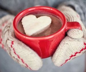 winter, heart, and chocolate image