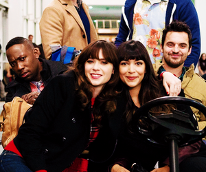 zooey deschanel, jake johnson, and max greenfield image