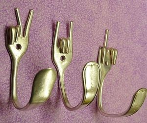 decorative, forks, and peace image