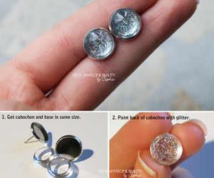 diy, earrings, and fashion image