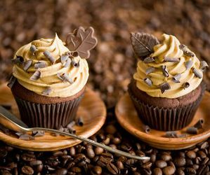 cupcake, chocolate, and food image