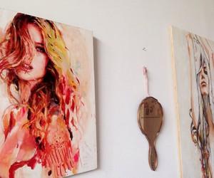 art, girl, and work image
