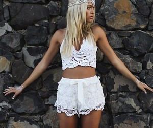 fashion, blonde, and summer image