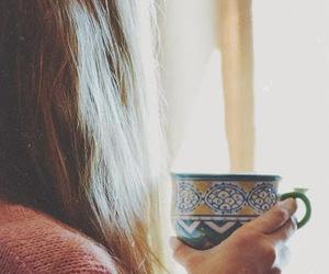 girl, cup, and tea image