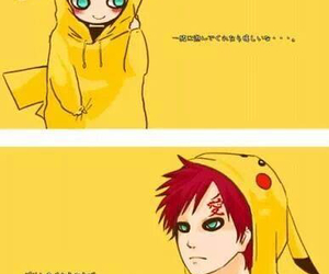 gaara, naruto, and pikachu image