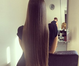hair, long hair, and style image
