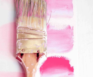 pink, art, and paint image