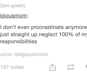 funny, procrastinate, and school image