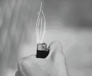 fire, gif, and lighter image