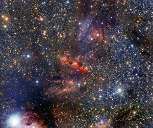galaxy, milky way, and space image