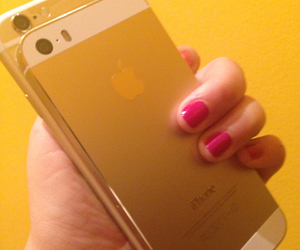 gold and iphone 6 image