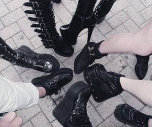 alternative, goth, and boots image