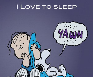peanuts, sleep, and snoopy image