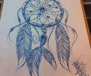 dreamcatcher, drawing, and art image