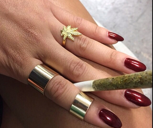 gold, joint, and marihuana image