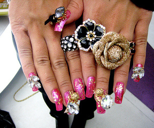 jewellery, pink, and ring image