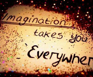 imagination, glitter, and quote image