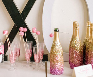pink, glitter, and party image