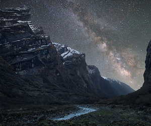 landscape, photography, and milky way image