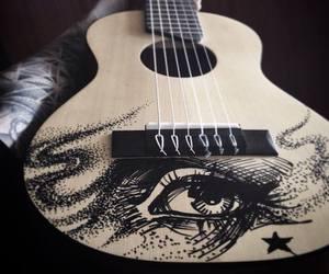 art, bands, and guitar image