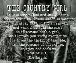 country, independent, and strong image