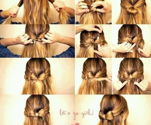 bow, diy, and blonde image