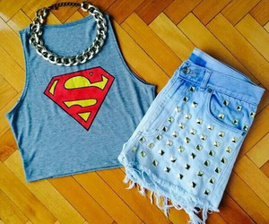 fashion, outfit, and superman image