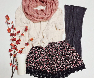 fashion, floral, and knit image