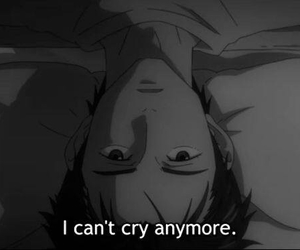 anime, cry, and quote image