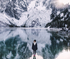 winter, mountains, and snow image