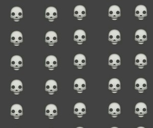 background, skull, and wallpaper image