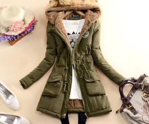 hooded, waist, and gathered image