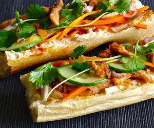 sandwich, Chicken, and vietnamese image