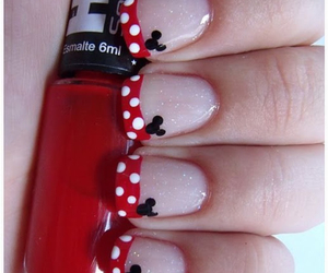nails, red, and mickey image