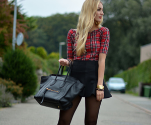 bag, fashion, and skirt image