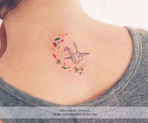 tattoo, origami, and color image