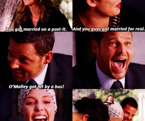 funeral, george o'malley, and cristina yang image