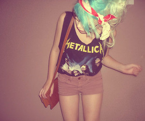 blue hair, girl, and hipster image
