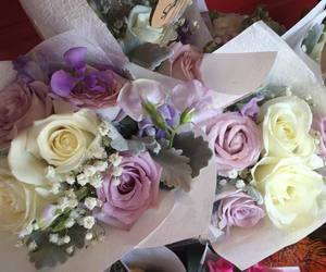 roses, lily's florist, and flower bunches image
