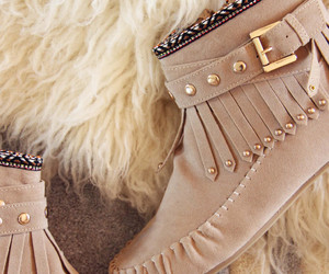 beige, boots, and shoes image