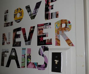 love, text, and love never fails image