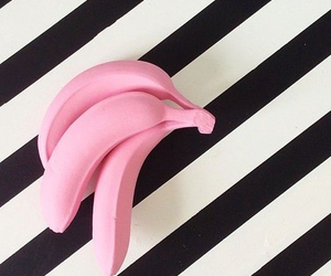 pink, banana, and black image