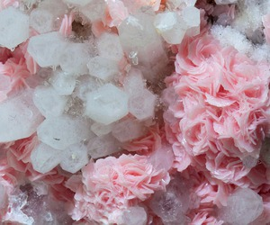 crystal, pink, and flowers image