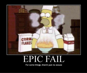 fail, simpsons, and homer image