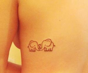 elefantes, elephants, and tatoo image
