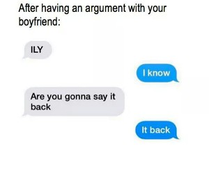 funny, argument, and boyfriend image