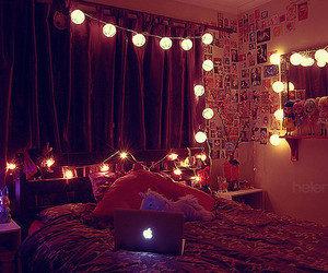 bedroom and string_lights image