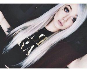kawaii, white hair, and pastel hair image