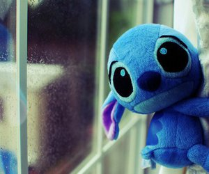 stitch, cute, and blue image